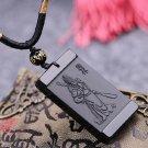 "natural obsidian pendant ""Guan Yu"""