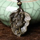 "Natural gold Obsidian pi yao ""flourishes"" obsidian necklace pendants"