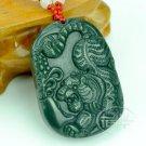 Natural green   Nephrite jade tiger pendants