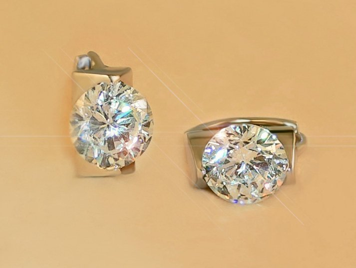 FREE SHIPPING 4.5ct SOLITAIRE RUSSIAN SIMULATE DIAMOND EARRINGS