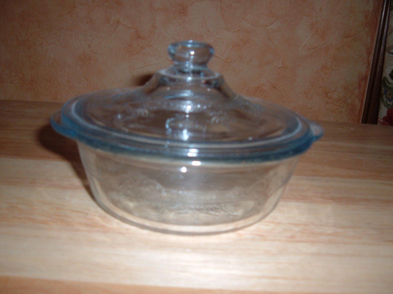 Fire King casserole blue sapphire