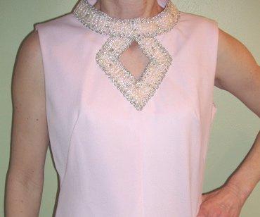 Vintage Dress Womens Pink Formal Dress
