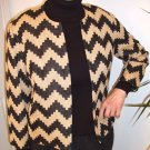 Vintage Jacket Womens Black and Tan
