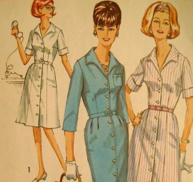 Vintage 1964 Sewing Pattern Simplicity 5751 Women's Dress