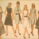Vintage 1971 Sewing Pattern Simplicity 9315 Dress