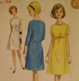 Vintage Sewing Pattern Butterick 4076 Dress