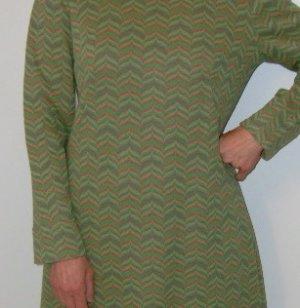 Vintage Dress Long Sleeve Women's Multi Colored
