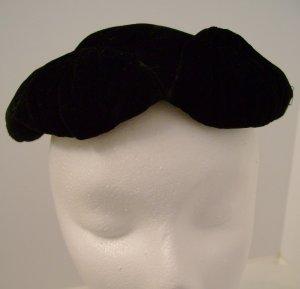 Vintage Velvet Hat Black