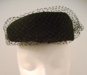 Vintage Hat Black Net