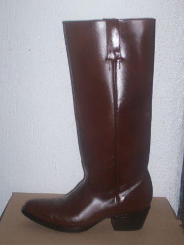 ROUND TOE COWBOY BOOTS men size 10 ZIPPER FLAT TOPS  k3