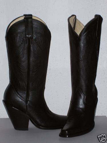 """cowboy boot SQUARE TOE 14""""tall men SIZE 6.5 AND 4""""HEEL"""