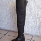 Genuine thick Thigh high Engineer boots 37 inches shafts lug soles, fully lined.