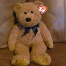 "1999 Ty Beanie Original Buddy Fuzz Bear 13"" Orange Brown with tag in ear"
