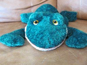 "Russ Berrie Friggles Green Plush Frog 15"" #20832"