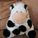 """Aurora New with Tag in Ear Cow 12"""" Horns Black Spotted Peach Snout"""