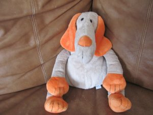 """Old Navy Puppy Dog 16"""" Long Snout Orange Ears Paws Nose Black Button Eyes"""