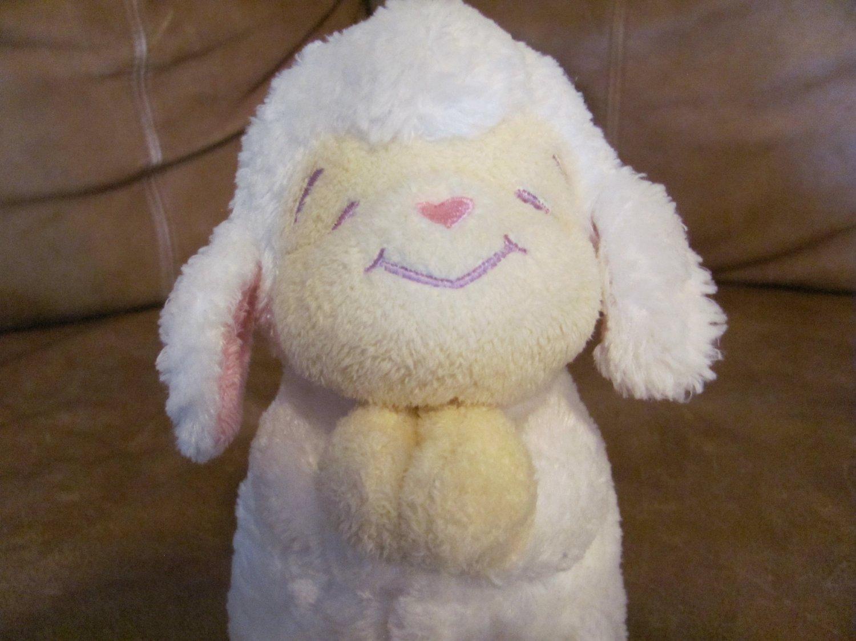 "2004 Bright Inspirations Praying White Lamb Glad Lovey Plush Cream Face Hands Feet 8"""