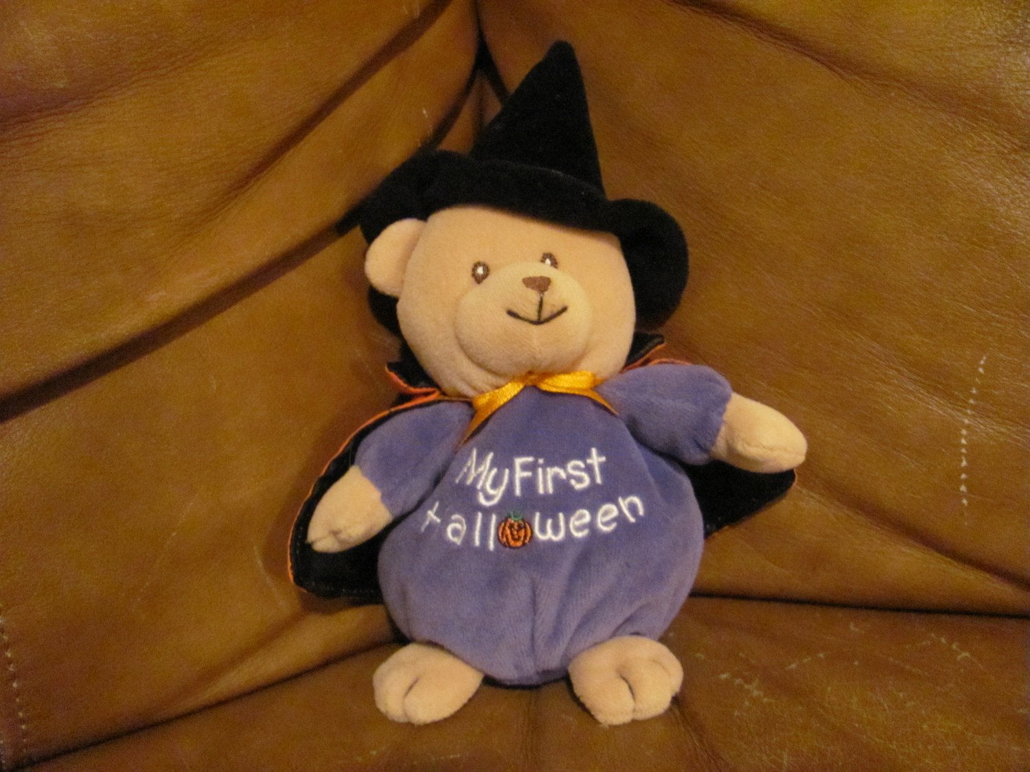 Soft Dreams My First Halloween Teddy Bear Witches Hat & Cape 8""