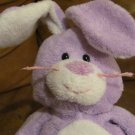 2006 TY Pluffies Twitches Plush Purple Bunny Rabbit Lovey Plush 10""