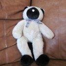 "1996 Manhattan Toy Company Tan Black Siamese Kitty Cat Plush Lovey Plaid Bow 16"""