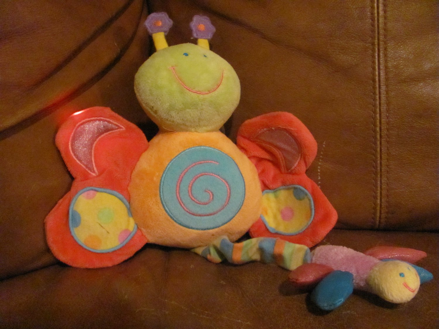 2004 Kids Preferred Butterfly Dragonfly Light Up Musical Crib Pull Toy