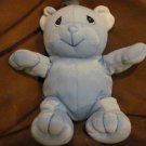 "HTF 1998 Enesco Precious Moments Tender Tails Blue Teddy Bear Lovey Plush 8"""