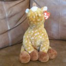 2003 WT Ty Pluffies Lasso Orangish Brown And Yellow Horse Pony Plush Lovey 10""