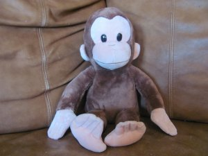 """Applause Russ Berrie Kohls Cares Curious George Monkey 16"""""""