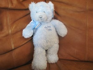 WT Baby Gund Blue My First Teddy Bear Lovey Plush #58803 11.5""