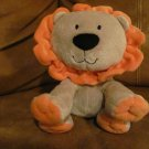 Carters Just One Year Tan Orange Lion Lovey Plush 7""