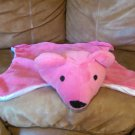 "Hot Pink Satin Teddy Bear Security Blanket Mat 21""x15"""