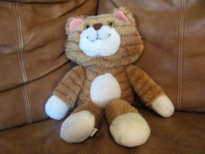 "Vintage 1984 Avon Carmichael Orange Tabby Kitty Cat Lovey Plush 15"""