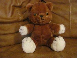 Htf Vintage 1982 Dakin Meow Mix Pull String Talking Kitty Cat Lovey