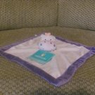 NWT Tiddliwinks Lavender Microfleece Hippo Security Blanket Lovey Plush