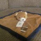 NWT Tiddliwinks Brown Microfleece Teddy Bear Football Security Blanket Lovey Plush