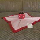 NWT Baby Essentials Red Lady Bug Pink Fleece Rattles Security Blanket Lovey Plush