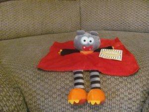 NWT Baby Starters Snuggle Buddy Microfleece Satin Rattle Security Blanket Lovey Plush