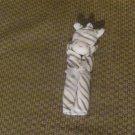 NWOT Angel Dear White Gray Stripes Zebra Security Blanket Lovey Plush