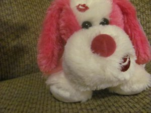 WT Aurora 07540 Pink Pucker Up Puppy Dog Lovey Plush