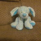 HTF Baby Ganz Blue Yellow Spotted Puppy Dog Speckle Lovey Plush