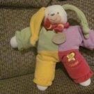 Doudou et Compagnie Paris Lapinou Jester Bunny Rabbit Multicolor Jumper Lovey Plush