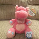 NWT 2009 Nuby Hugs N Tickles Pink Hippo Giggling Lovey Plush