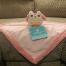 NWT Tiddliwinks Pink Microfleece Owl Security Blanket Lovey Plush