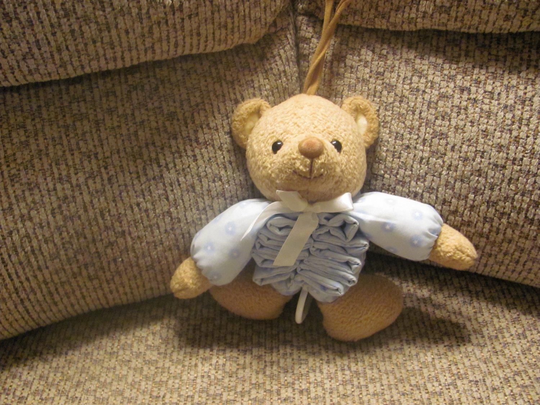 Prestige Toy Brown Teddy Bear Musical Accordion Go To Sleep Crib Pull Toy