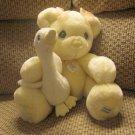 Precious Moments Premier Edition 216 of 5,500 Yellow Teddy Bear White Goose Lovey Plush