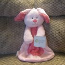 NWT Baby Gear Pink Bunny Rabbit Swirls Security Blanket Lovey Plush