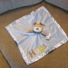 NWT Carters Baby Tan Puppy Dog Hugs Rattles Blue Security Blanket Lovey Plush