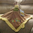 NWT Baby Essentials Lil Monkey Reversible King Of The Jungle Lion Security Blanket