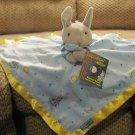 NWT Kids Preferrred Goodnight Moon Bunny Rabbit Microfleece Satin Security Blanket