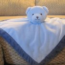Tiddliwinks Blue Microfleece Teddy Bear Security Blanket Lovey Plush